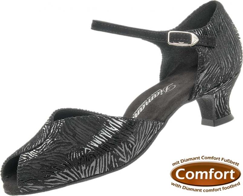 37fa1efe563 Diamant latina dámská taneční obuv černá kůže - šíře G