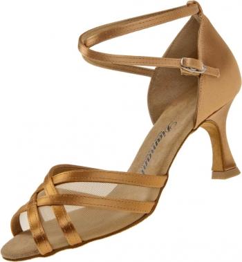 Diamant latina dámská taneční obuv satén bronz 27bc7dfc58