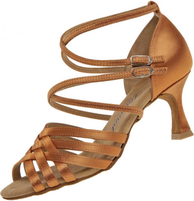 Diamant latina dámská taneční obuv tmavě tělový satén 276de51d5e