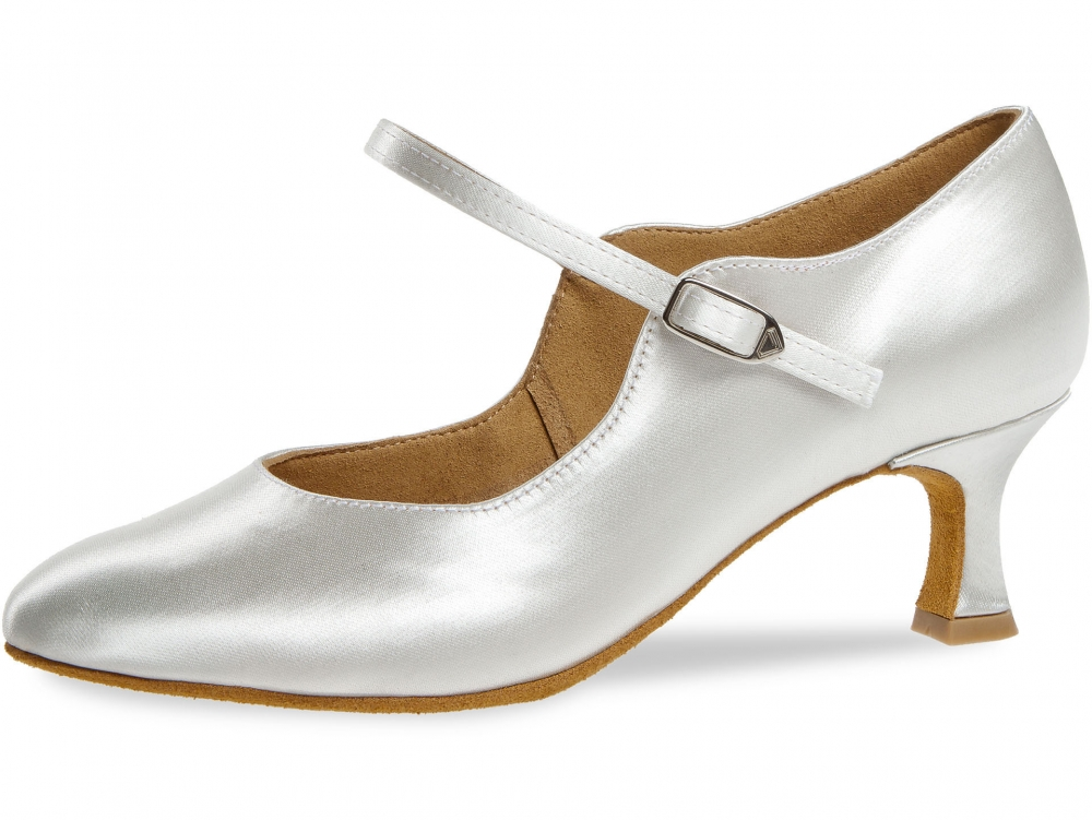Diamant Standard dámská taneční obuv bílý satén 5fb3d477e7