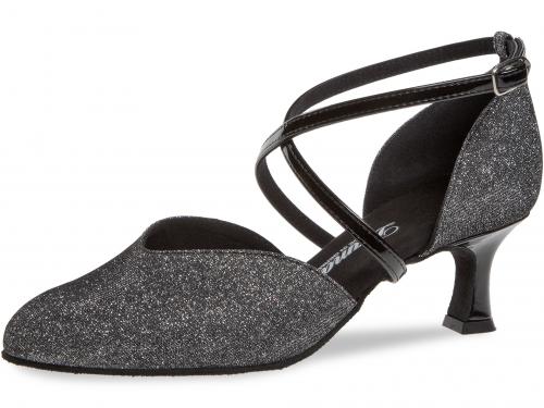 d016f92691a01 Diamant Standard dámská taneční obuv černostříbrný brokát, 5 cm empty